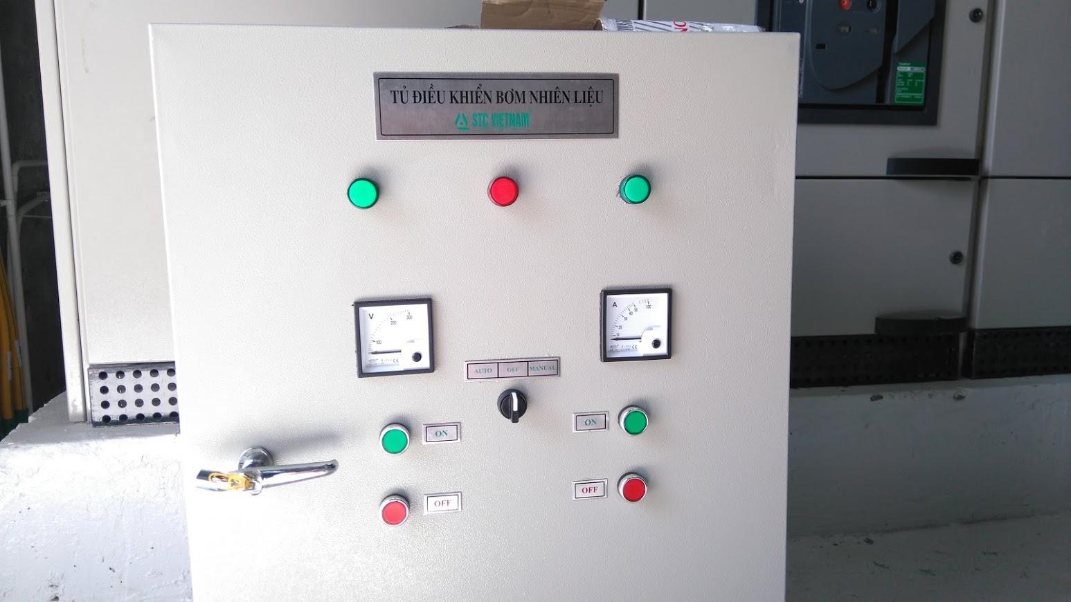 Tủ điều khiển bơm dầu cơ ( 02 bồn)