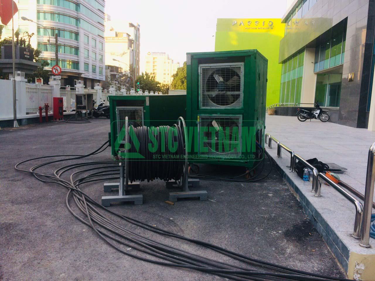 Cho thuê tải  máy phát điện 630 Kva