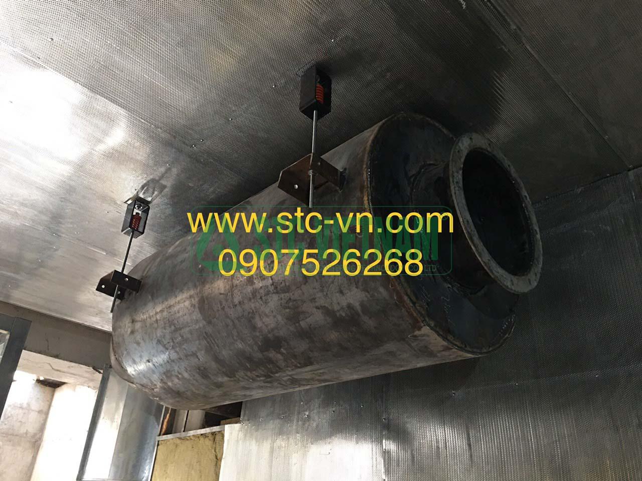 Ống pô tiêu âm thứ cấp máy phát điện MTU 2500 Kva