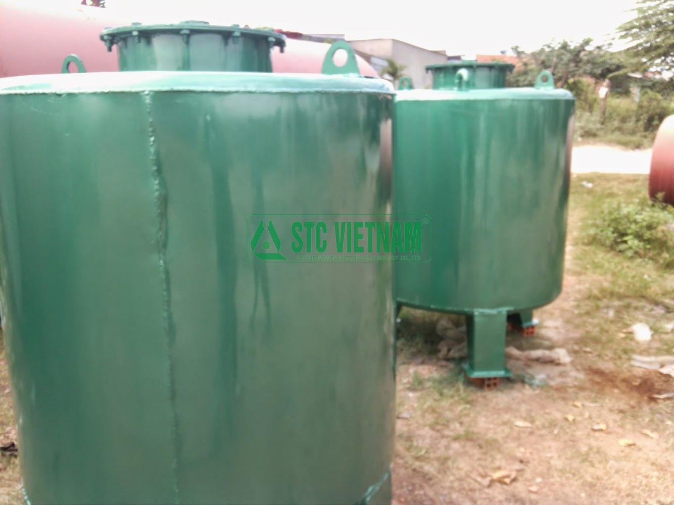 Bồn dầu máy phát điện 1000 lít (Tròn đứng)